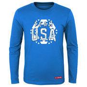 Team USA Youth Snow Flake Long Sleeve T-Shirt – Blue