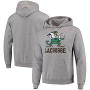 Notre Dame Fighting Irish Champion Lacrosse Drop Poweblend Pullover Hoodie – Gray