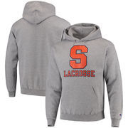 Syracuse Orange Champion Lacrosse Drop Poweblend Pullover Hoodie – Gray