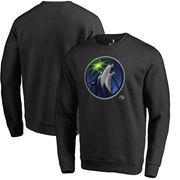 Minnesota Timberwolves Fanatics Branded Midnight Mascot Pullover Sweatshirt - Black