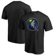 Minnesota Timberwolves Fanatics Branded Midnight Mascot Big and Tall T-Shirt - Black