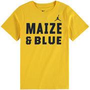 Michigan Wolverines Jordan Brand Youth Alternate Logo Cotton T-Shirt - Maize