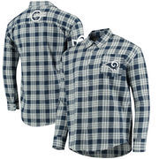 Los Angeles Rams Wordmark Flannel Long Sleeve Button-Up - Navy/White