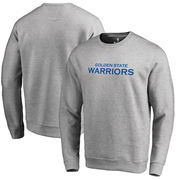 Golden State Warriors Fanatics Branded Wordmark Pullover Sweatshirt - Heathered Gray
