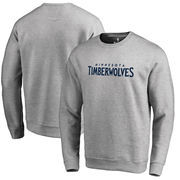 Minnesota Timberwolves Fanatics Branded Wordmark Pullover Sweatshirt - Heathered Gray