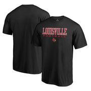 Louisville Cardinals Fanatics Branded True Sport Football Big and Tall T-Shirt - Black