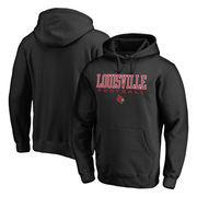 Louisville Cardinals Fanatics Branded True Sport Football Pullover Hoodie - Black