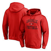 Louisville Cardinals Fanatics Branded Neutral Zone Pullover Hoodie - Red
