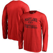 Maryland Terrapins Fanatics Branded Youth Neutral Zone Long Sleeve T-Shirt - Red