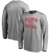 Wisconsin Badgers Fanatics Branded Youth Neutral Zone Long Sleeve T-Shirt - Ash