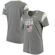 Team USA Nike Women's Fan V-Neck T-Shirt - Gray