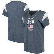 Team USA Nike Women's Fan V-Neck T-Shirt - Navy