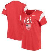 Team USA Nike Women's Fan V-Neck T-Shirt - Red