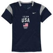 Team USA Nike Girls Youth Fan V-Neck T-Shirt - Navy