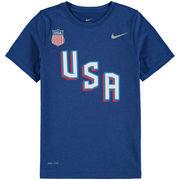 US Hockey Nike Youth 2018 Winter Olympics Legend Performance T-Shirt - Blue