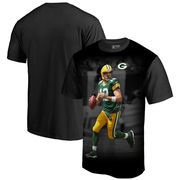 Aaron Rodgers Green Bay Packers NFL Pro Line by Fanatics Branded NFL Player Sublimated Graphic T-Shirt – Black