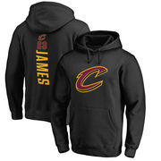 LeBron James Cleveland Cavaliers Fanatics Branded Backer Name & Number Pullover Hoodie - Black