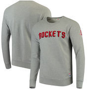 Houston Rockets Levi's Crew Fleece Pullover Sweatshirt - Gray