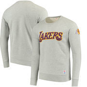 Los Angeles Lakers Levi's Crew Fleece Pullover Sweatshirt - Gray