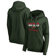 Minnesota Wild Fanatics Branded Women's Freeline Plus Size Pullover Hoodie - Green