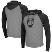 Army Black Knights Colosseum Personal Flair Tri-Blend Thermal Hooded Long Sleeve T-Shirt - Gray/Black