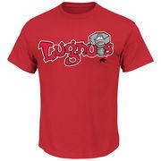 Lansing Lugnuts Majestic Youth Baseball T-Shirt - Red