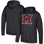 Miami University RedHawks adidas Team Issue Pullover Hoodie - Black