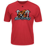 Batavia MuckDogs Majestic Youth Cool Base Evolution T-Shirt - Red