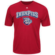 Lehigh Valley IronPigs Majestic Youth Cool Base Evolution T-Shirt - Cardinal