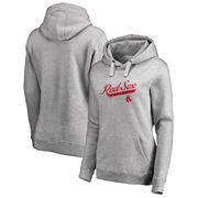 Boston Red Sox Fanatics Branded Women's Frontsweep Plus Size Pullover Hoodie - Ash