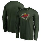 Minnesota Wild Fanatics Branded Splatter Logo Big and Tall Long Sleeve T-Shirt - Green