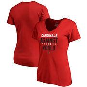 Louisville Cardinals Fanatics Branded Women's Against The World V-Neck T-Shirt - Red