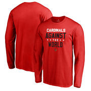 Louisville Cardinals Fanatics Branded Against The World Long Sleeve T-Shirt - Red