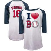 Andrew Benintendi Boston Red Sox 5th & Ocean by New Era Girls Youth Emoji Love Player Raglan Three-Quarter Sleeve T-Shirt - Whit