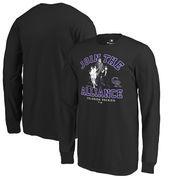 Colorado Rockies Fanatics Branded Youth MLB Star Wars Join The Alliance Long Sleeve T-Shirt – Black