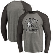 Chicago White Sox Fanatics Branded MLB Star Wars Join The Alliance Raglan Long Sleeve T-Shirt – Heather Gray