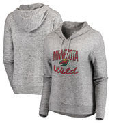 Minnesota Wild Fanatics Branded Women's Cozy Collection Steadfast Pullover Hoodie - Ash