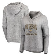 New Orleans Saints NFL Pro Line by Fanatics Branded Women's Cozy Collection Steadfast Pullover Hoodie - Ash