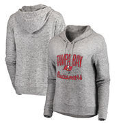 Tampa Bay Buccaneers NFL Pro Line by Fanatics Branded Women's Cozy Collection Steadfast Pullover Hoodie - Ash