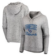 Tennessee Titans NFL Pro Line by Fanatics Branded Women's Cozy Collection Steadfast Pullover Hoodie - Ash
