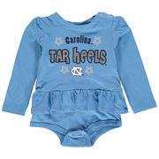 North Carolina Tar Heels Colosseum Girls Infant Rock-A-Bye Long Sleeve Skirted Creeper - Caroline Blue