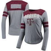 Texas A&M Aggies Colosseum Women's My Way Striped Long Sleeve T-Shirt - Gray/Maroon