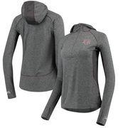 Texas A&M Aggies Colosseum Women's Capo Ferro Windshirt Quarter-Zip Pullover Hoodie - Heathered Charcoal