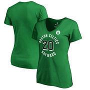 Gordon Hayward Boston Celtics Fanatics Branded Women's Notable Name & Number V-Neck T-Shirt - Kelly Green