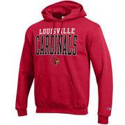 Louisville Cardinals Champion Core Powerblend Hoodie - Red