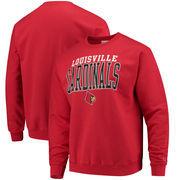 Louisville Cardinals Champion Core Powerblend Crewneck Sweatshirt - Red