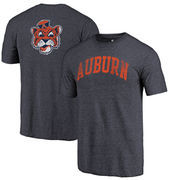 Auburn Tigers Fanatics Branded Vault Two Hit Arch T-Shirt - Heathered Navy
