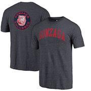 Gonzaga Bulldogs Fanatics Branded Vault Two Hit Arch T-Shirt - Heathered Navy