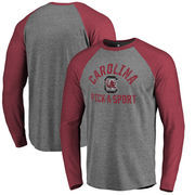 South Carolina Gamecocks Fanatics Branded Distressed Pick-A-Sport Tri-Blend Long-Sleeve T-Shirt - Ash