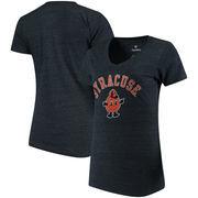 Syracuse Orange Fanatics Branded Women's Vault Arch Over Logo Tri-Blend V-Neck T-Shirt - Navy